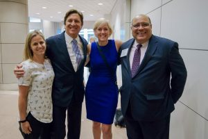 Carlos Rivera (Vysnova CEO) and Mauricio Vera (USAID Director for the Office of Small and Disadvantaged Business Utilization (OSDBU) ) along with Ms. Janel Hoppes-Poche from Juarez & Associates, Inc. and Ms. Carla Briceno from Bixal, Inc.